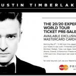 Justin Timberlake x MasterCard